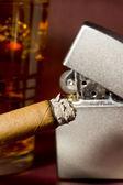Burning Cigar — Stock Photo