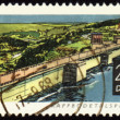 Rappbode dam on post stamp — Stock Photo