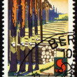 Post stamp devoted to forest protection — Stock Photo