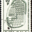 Doevnee Biskupin settlement on post stamp — Stock Photo