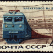 Post stamp with russian electric locomotive VL-60k - Stock Photo