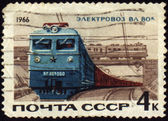 Post stamp with russian electric locomotive VL-60k — Stock Photo