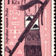 American indian craftsmanship on post stamp — Stock Photo