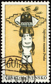 Native American craftsmanship on post stamp — Stock Photo