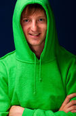 Young man in hood — Stock Photo