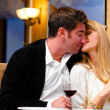 Couple at restaurant — Stock Photo #7024968