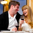 Couple at restaurant — Stock Photo #7025185