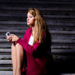 Woman with mobile phone — Stock Photo #7025706