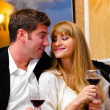 Couple at restaurant — Stockfoto