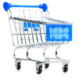 Empty shopping cart — Stock Photo