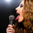 Singing rock music — Stock Photo