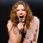 Singing rock music — Stock Photo