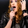 Singing rock music — Stockfoto #7511190