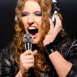Royalty-Free Stock Photo: Singing rock music