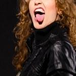 Rock music woman — Stock Photo