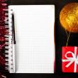 Christmas notes — Stock Photo