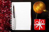 Christmas notes — Stock Photo
