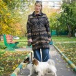 Woman with the dogs — Stock Photo #7212284