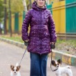 Woman with the dogs — Stock Photo #7307877