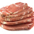 Uncooked pork chops — Stockfoto