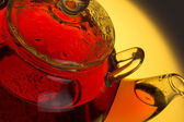 Transparent teapot — Stock Photo
