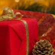 Stock Photo: Christmas still life with decorations