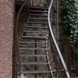 Iron  staircase - Stock Photo