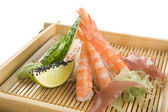 Tiger prawns decorated — Stock Photo