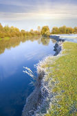 Coast of the autumn river — Stock Photo