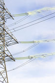 Transfer of the electric power — Stock Photo