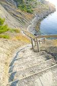 Plaj aşağı merdiven — Stok fotoğraf