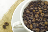 Cup of aromatic coffee — Stock Photo