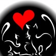 Happy cats in love — Vector de stock #6930596