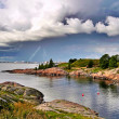 Cloudy and stormy summer over sea — Stock Photo #7088918