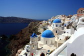 Cupolas of Oia, Santorini — Stock Photo
