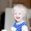 Toddler with flower — Stock Photo