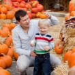 Royalty-Free Stock Photo: Family at the pumpkin patch