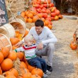 Stock Photo: Family at the pumpkin patch