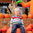 Toddler at the pumpkin patch — Stock Photo #7147511