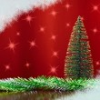 Decorative Artificial Christmas Tree — Stock Photo