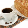 Stock Photo: Cup of coffee and cake