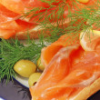 Snack from a salmon — Stock Photo #7532810