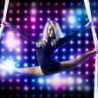 Young woman gymnast — Stockfoto