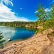 Karelia lake panorama — Stock Photo