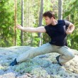 Young man martial art training - Stockfoto