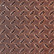 Rusty chequer metal - Stock Photo