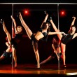 Five women acrobatic show — Stockfoto