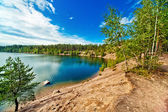 Karelia lake panorama — Stock Photo