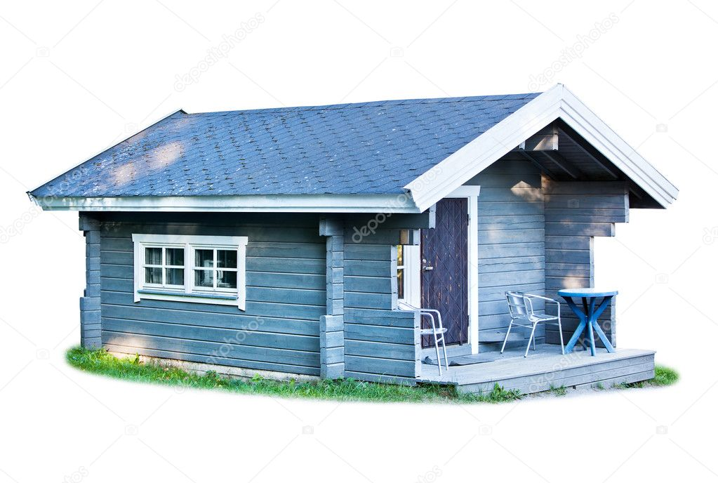 Small wooden cottage Stock Photo chaoss 6912590