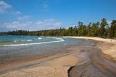 Lake superior sandy beach katherine cove — Stockfoto